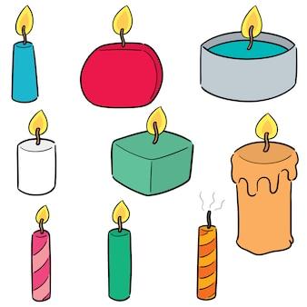 Wektor zestaw świecy