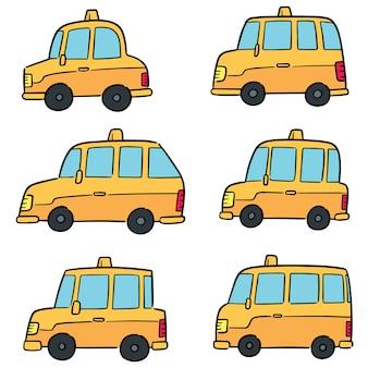 Wektor zestaw taksówek