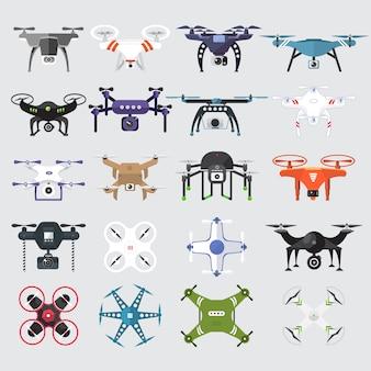 Wektor zestaw technologii drony