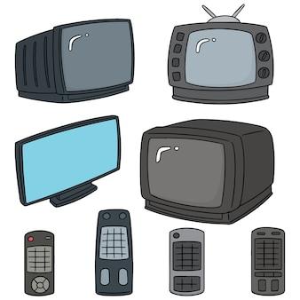 Wektor zestaw telewizji