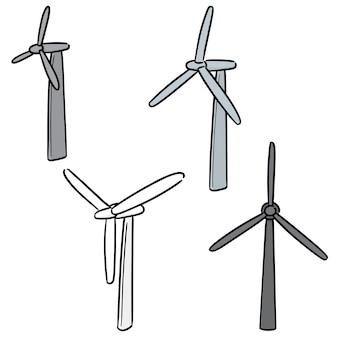 Wektor zestaw turbiny wiatrowej
