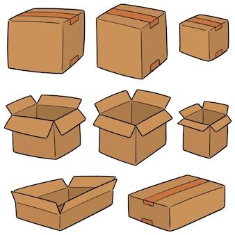 Wektor zestaw z pudełka
