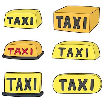 Wektor zestaw znak taxi