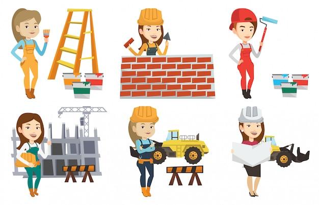 Wektor zestaw znaków konstruktorów i konstruktorów