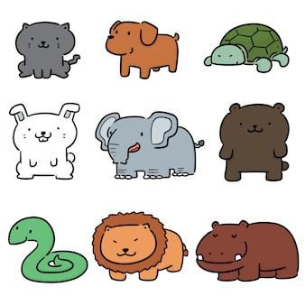 Wektor zestaw zwierząt