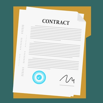 Wektor zgody na dokument