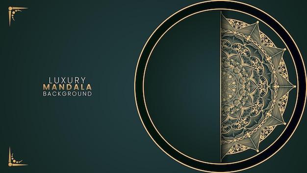 Wektor zielony luksusowy mandali tło