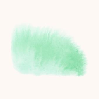Wektor zielony sztandar stylu akwarela