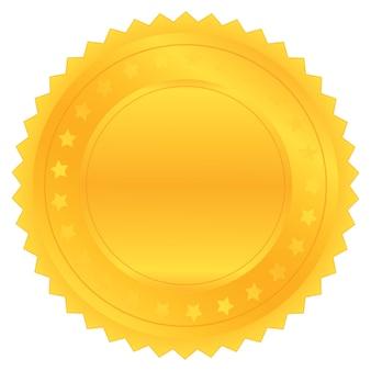 Wektor złota pieczęć