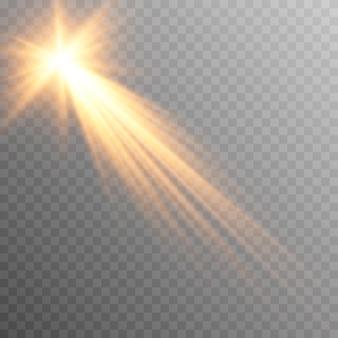 Wektor złote światło