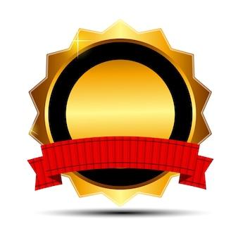 Wektor złoty znak, szablon etykiety