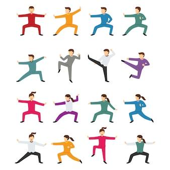 Wektor znaków kungfu