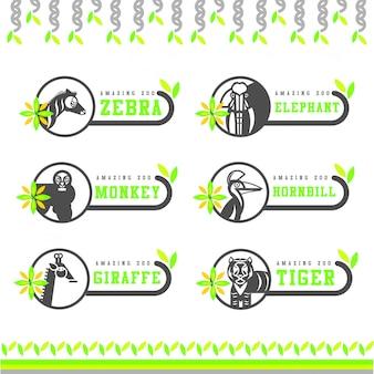 Wektor zwierząt leśnych znak