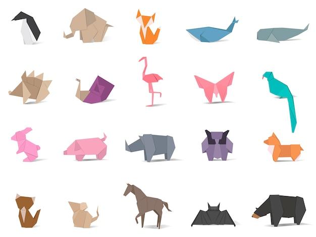 Wektor zwierzę origami