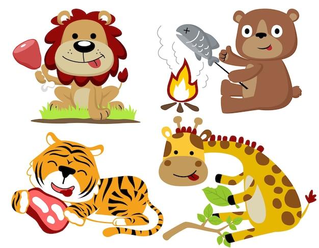 Wektor zwierzęcy kreskówka set
