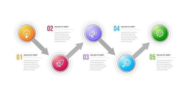 Wektora infographic elementów projektu.