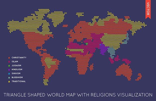 Wektora plansza mapa świata płaski. mapa świata.