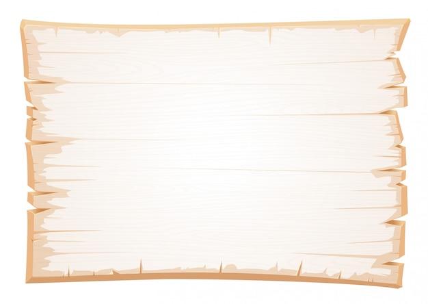 Wektorowa drewniana biała tekstura. stara deska odrapanego drewna.