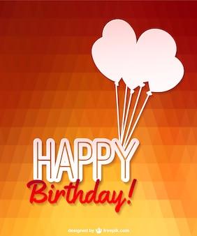 Wektorowa happy balony urodziny projekt