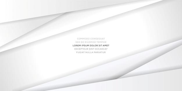 Wektorowa ilustracja abstrakcjonistyczny elegancki biały szary tło z błyszczącym kreskowym kształtem