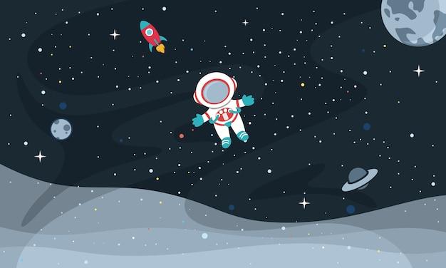 Wektorowa ilustracja astronautyczny tło