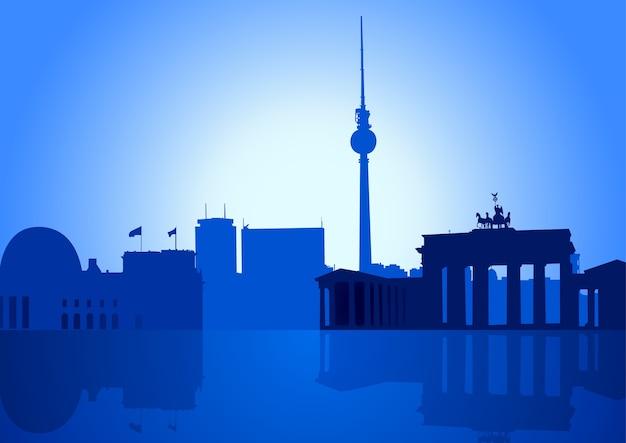 Wektorowa ilustracja berlińska linia horyzontu