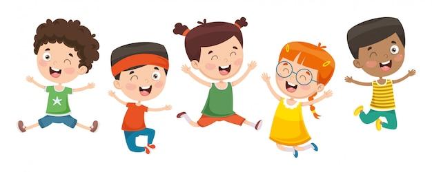 Wektorowa ilustracja dzieci bawić się