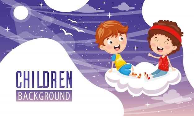 Wektorowa ilustracja dzieci tło