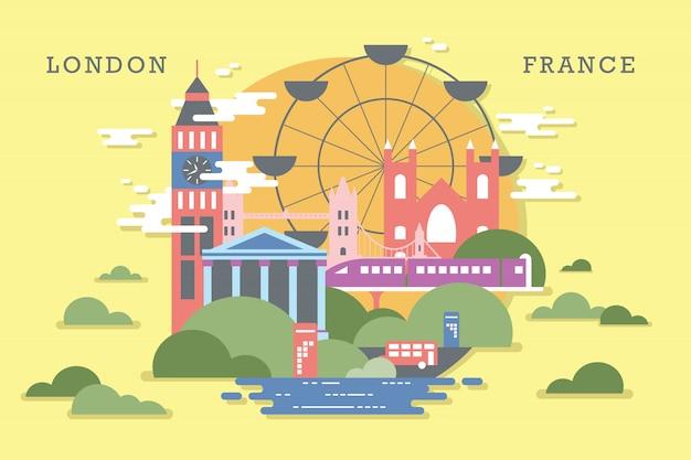Wektorowa ilustracja ekosystem w london