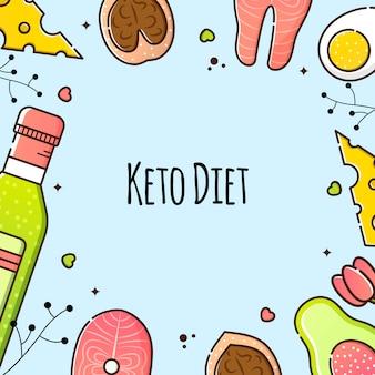 Wektorowa ilustracja keto dieta