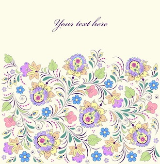 Wektorowa ilustracja kolorowy kwiecisty tło
