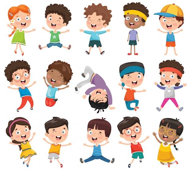 Wektorowa ilustracja kreskówek dzieci