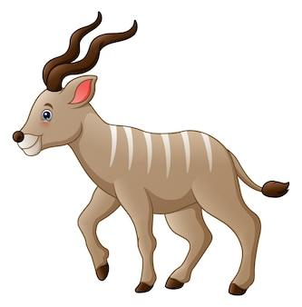 Wektorowa ilustracja kreskówki kudu antylopa