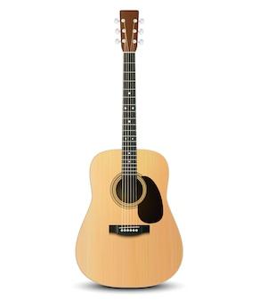 Wektorowa ilustracja realistyczna gitara akustyczna