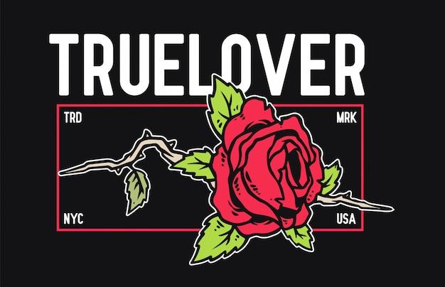 Wektorowa ilustracja róża z tatuażu stylem