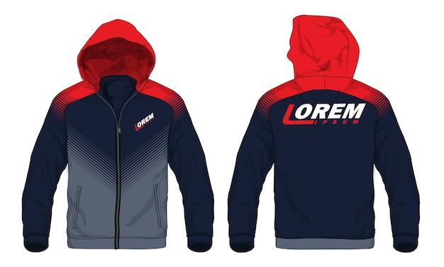 Wektorowa ilustracja sporta hoodie kurtka.