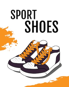 Wektorowa ilustracja sportów buty