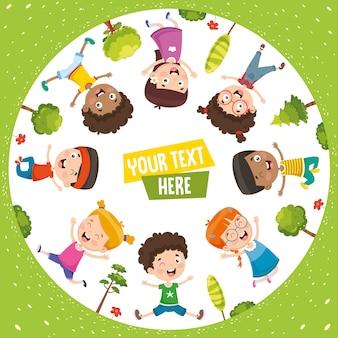 Wektorowa ilustracja szczęśliwi dzieci