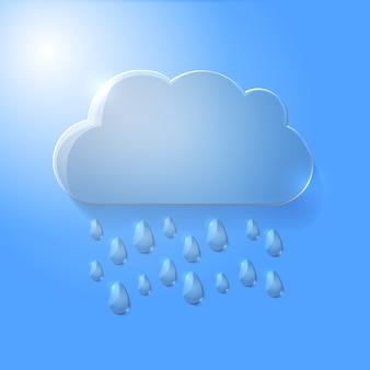 Wektorowa ilustracja szklana chmura