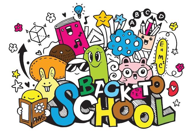 Wektorowa ilustracja z powrotem szkoła