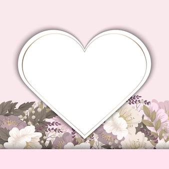 Wektorowa ilustracja z sercem. idealne na walentynki, urodziny, zapisz zaproszenie na randkę