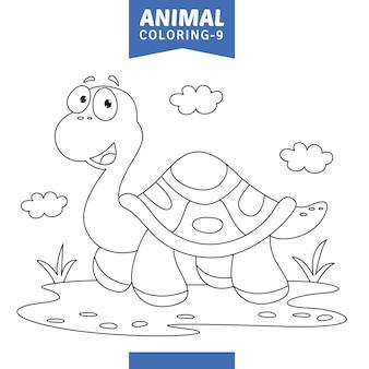 Wektorowa ilustracja zwierzęca kolorystyki strona