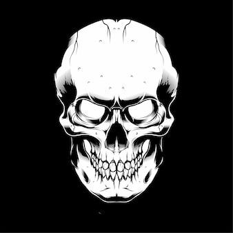Wektorowa ilustracyjna czaszka