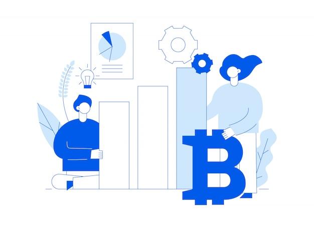 Wektorowa inwestycja bitcoin