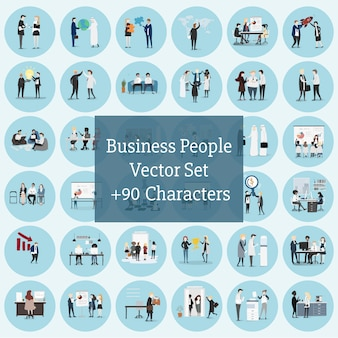 Wektorowa kolekcja ludzie biznesu