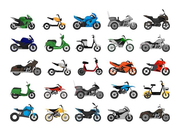 Wektorowa kolekcja motocykli