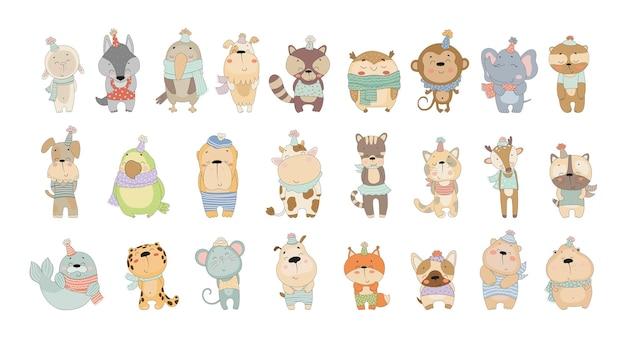 Wektorowa kolekcja uroczych zwierzątek
