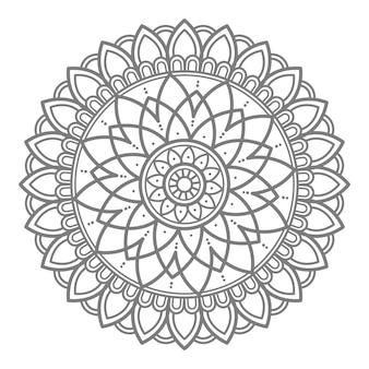 Wektorowa kwiatowy mandali ilustracji