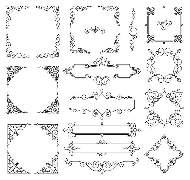 Wektorowa modna liniowa rama z kopii przestrzenią dla teksta