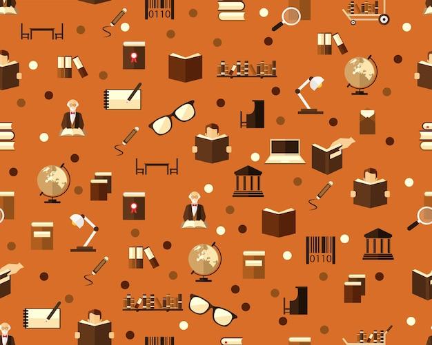 Wektorowa płaska bezszwowa tekstura wzoru biblioteka.